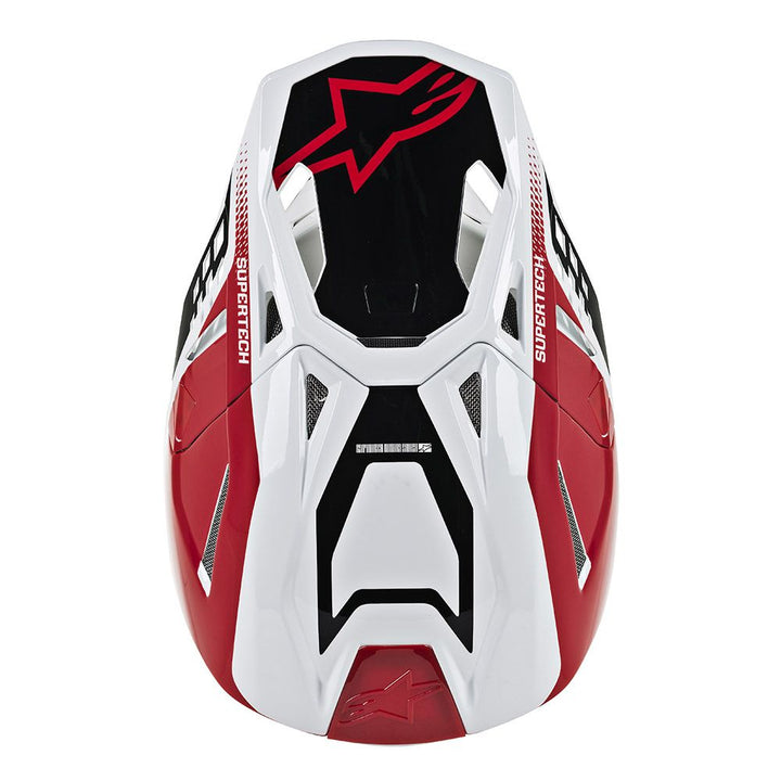 alpinestars supertech m8 triple helmet red white top