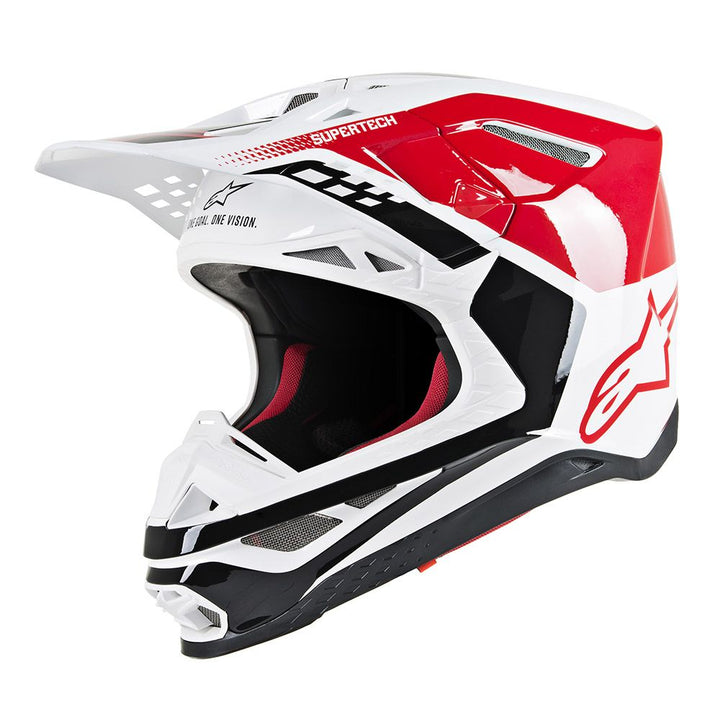 alpinestars supertech m8 triple helmet red white