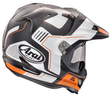 arai xd4 vision helmet orange back