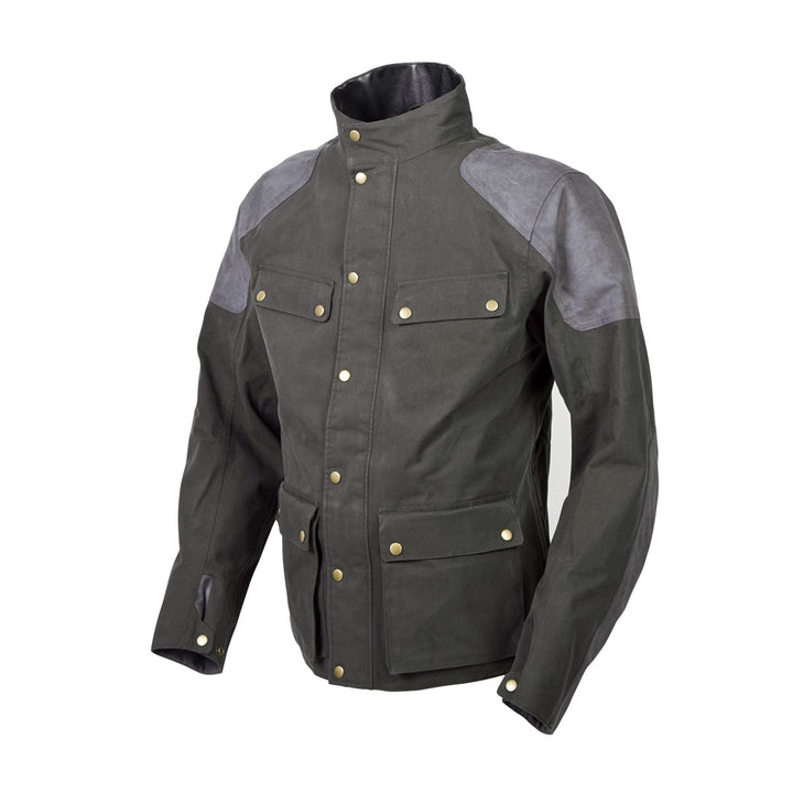 scorpion-birmingham-jacket-green-left