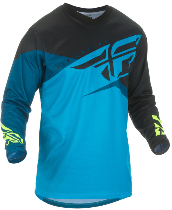fly-racing-youth-f16-jersey-blk-blue-front