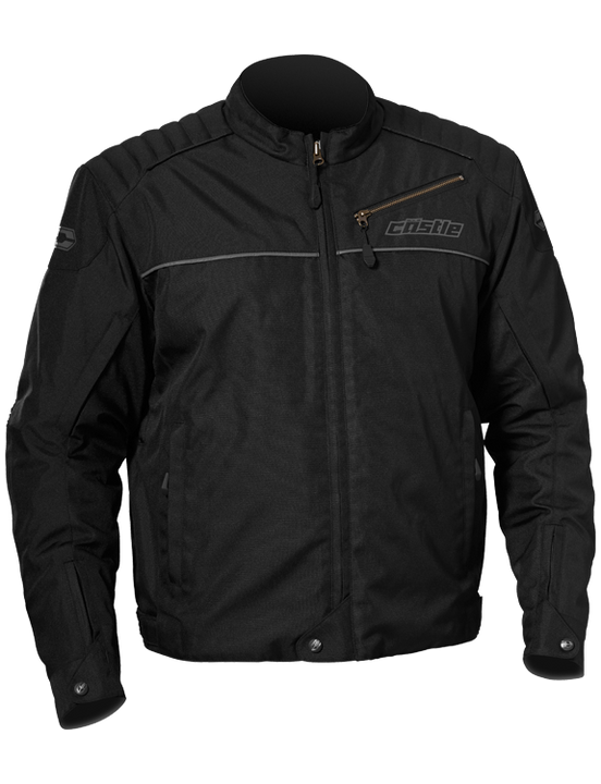 castle classic motorcycle jacket black