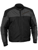 castle classic motorcycle jacket gray