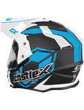 castle-x-mode-electric-helmet-team-blue-rear