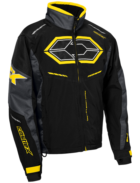 castle x blade g4 mens snowmobile jacket yellow