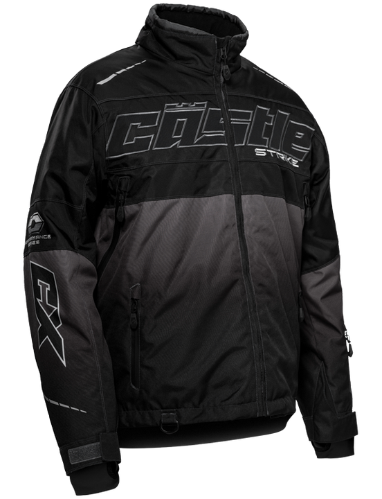 castle strike jacket grey black front