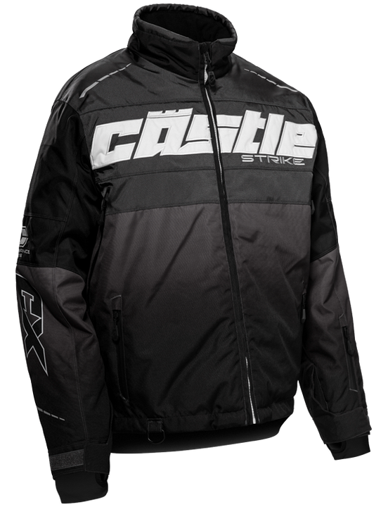 castle strike jacket grey white front