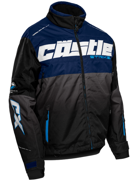 castle strike jacket navy blue front