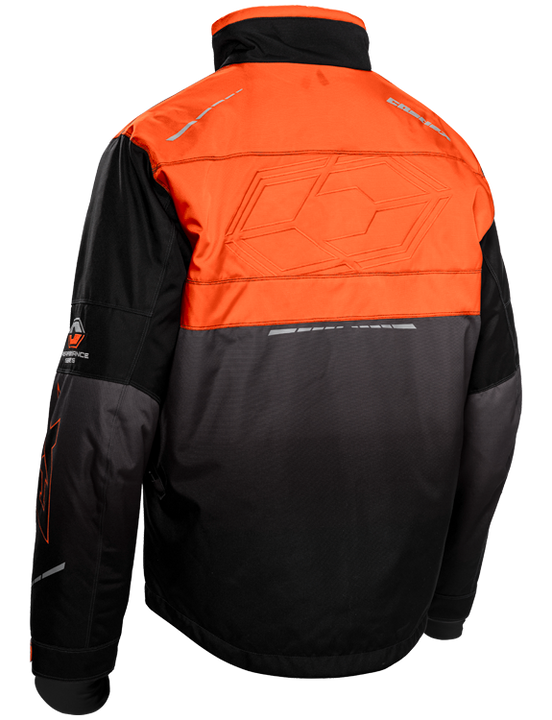 castle strike jacket orange back
