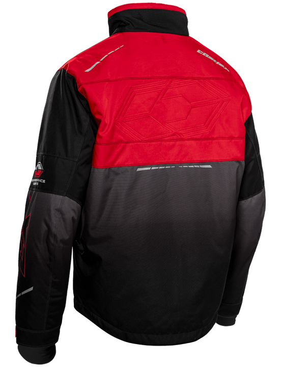 castle strike jacket red back