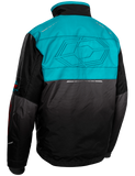 castle strike jacket turquoise back