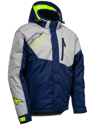 castle phase jacket silver blue front