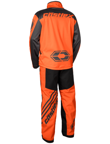 castle r21 race jacket orange back