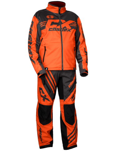 castle r21 race jacket orange front
