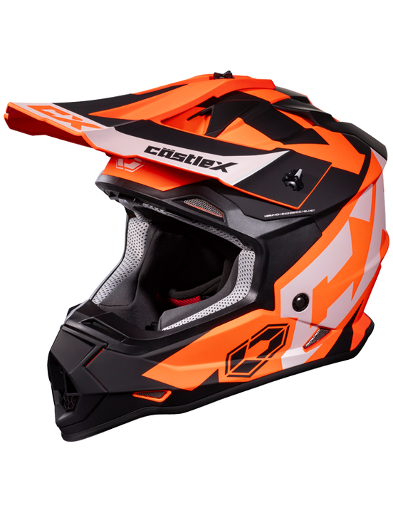 castle mode flow helmet orange