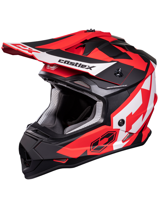 castle mode flow helmet red