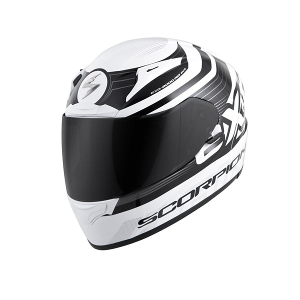 Scorpion Exo-R2000 Fortis Helmet White Black