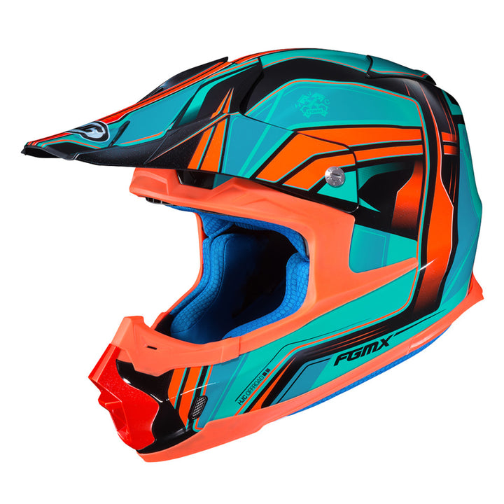 hjc-fg-mx-piston-helmet-orange/teal-side