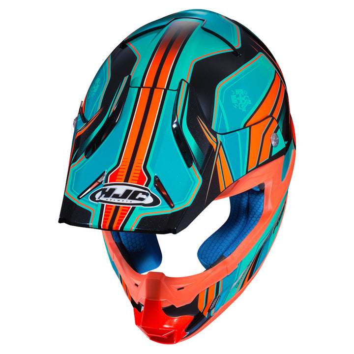 hjc-fg-mx-piston-helmet-orange/teal-top