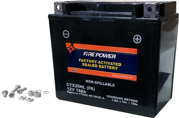 FIRE POWER AGM SEALED FACTORY ACTIVATED BATTERY CTX20HL