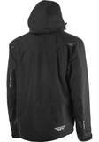 fly incline snow jacket black back