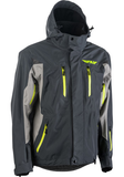 fly incline snow jacket grey charcoal