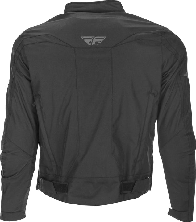 fly racing 2019 butane jacket black back