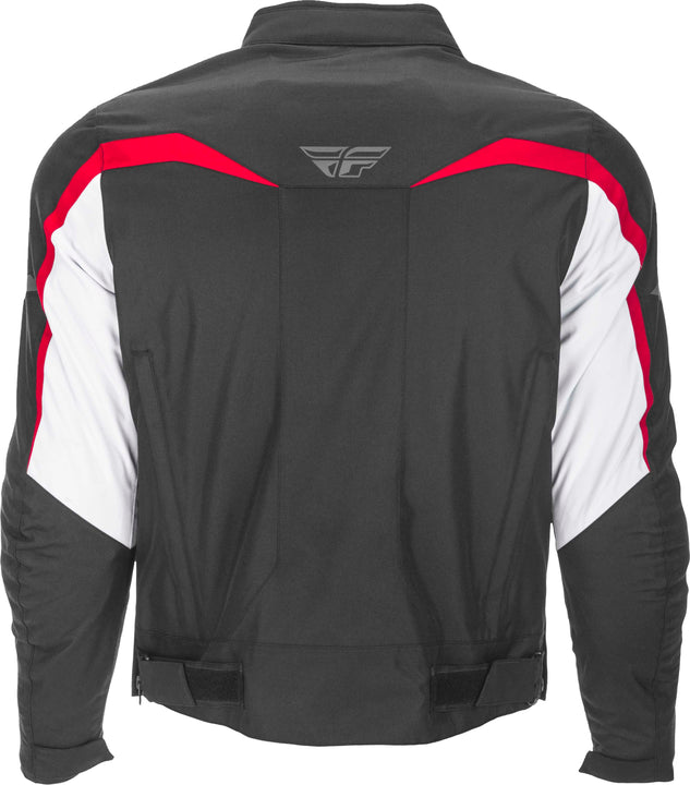 fly racing 2019 butane jacket white red back