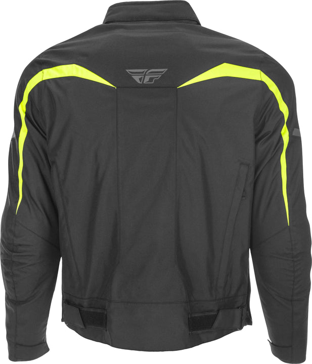 fly racing 2019 butane jacket hivis back