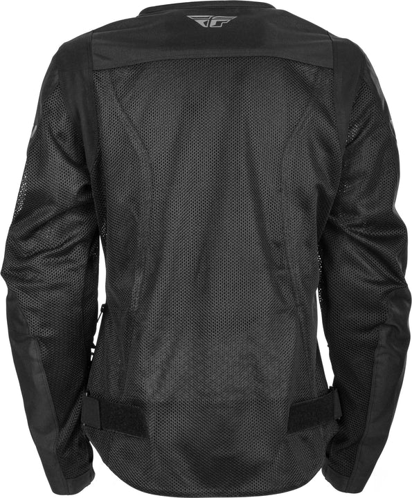 fly racing flux air womens jacket black back
