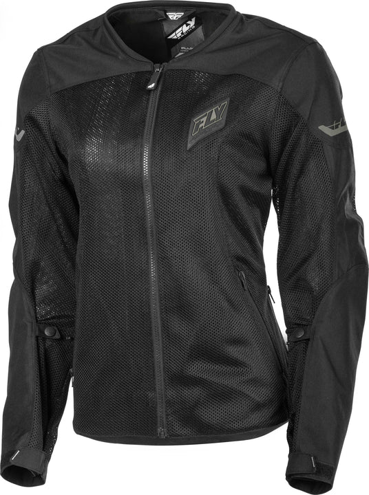 fly racing flux air womens jacket black