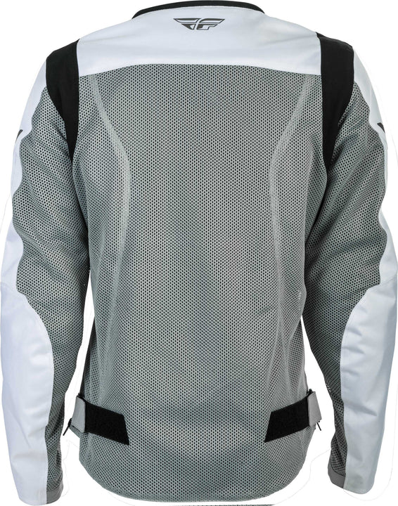 fly racing flux air womens jacket grey back