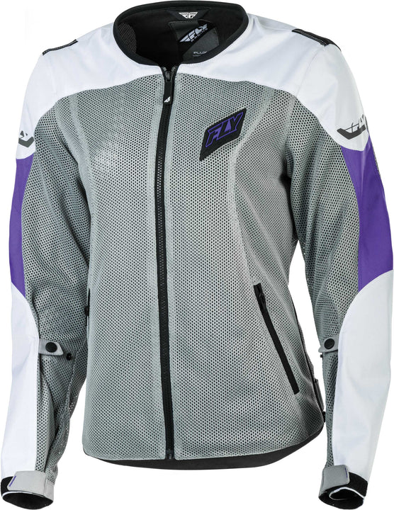 fly racing flux air womens jacket white purple