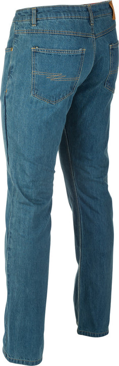 Fly Racing Resistance Heavy Weight Tall Mens Motorcycle Jeans Oxford Blue 32