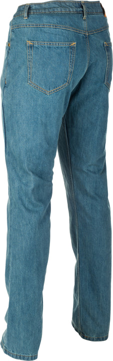 highway 21 defender motorcycle jeans blue back