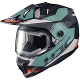 hjc snowmobile helmets ds-x1 tactic teal