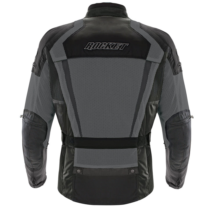 joe rocket phoenix ion summit mesh jacket grey back