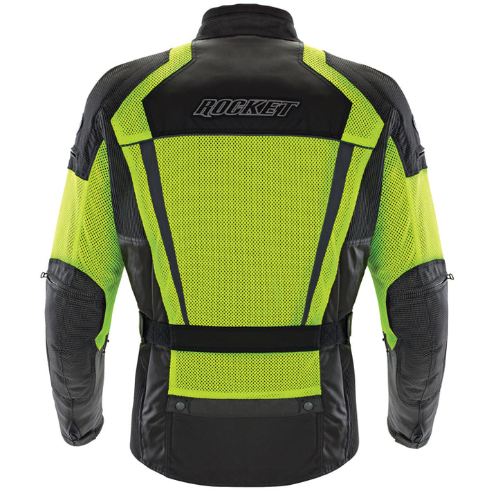 joe rocket phoenix ion summit mesh jacket hivis back