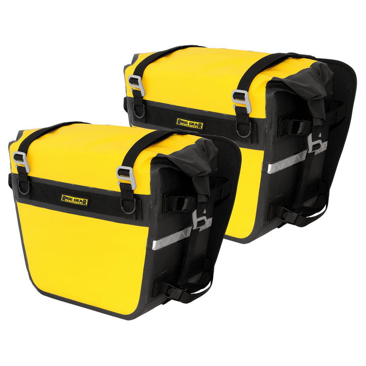 nelson rigg 3050 adv motorcycle saddle bags yellow