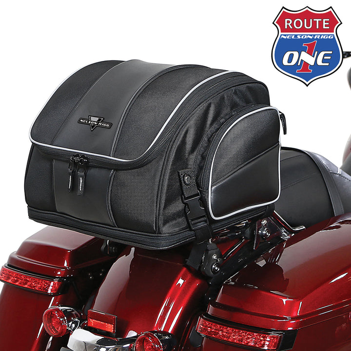nelson rigg route 1 weekender bag seat