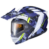scorpion exo at950 outrigger dual pane snowmobile helmet blue