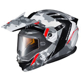 scorpion exo at950 outrigger dual pane snowmobile helmet red