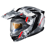 scorpion exo at950 outrigger electric face shield helmet gray