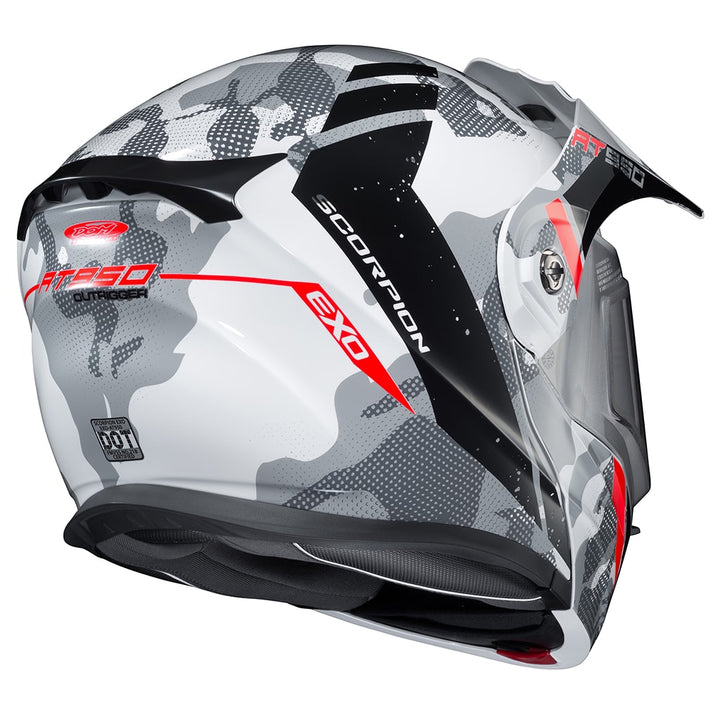 scorpion exo at950 outrigger dual pane snowmobile helmet rear