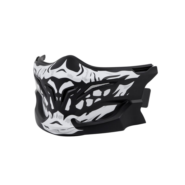 scorpion covert helmet skull face mask angle
