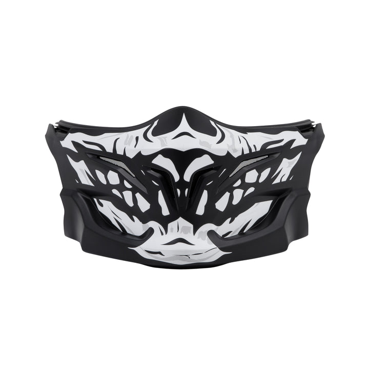 scorpion covert helmet skull face mask front