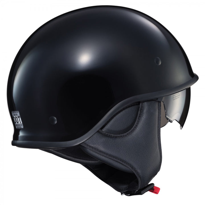 scorpion exo c90 half helmet black side