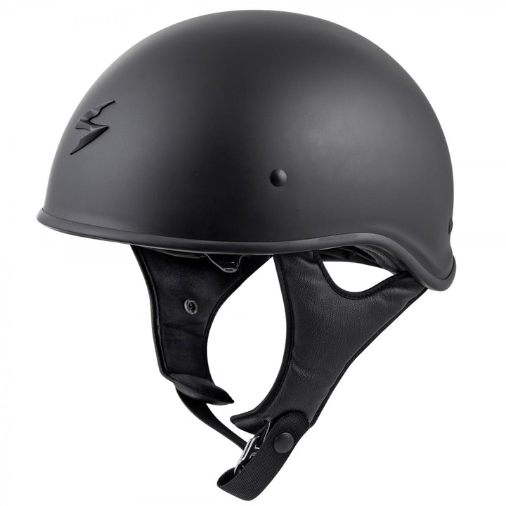 scorpion exo c90 half helmet matte black side