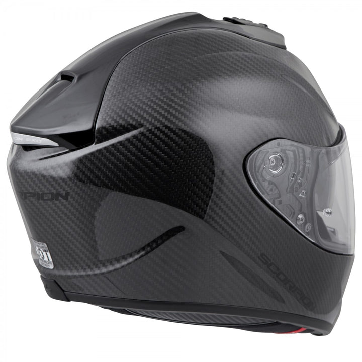 scorpion exo st1400 carbon helmet black back