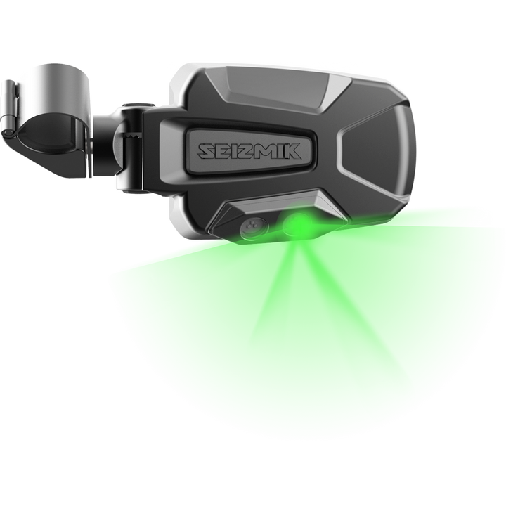 seizmik pursuit led side view mirrors green